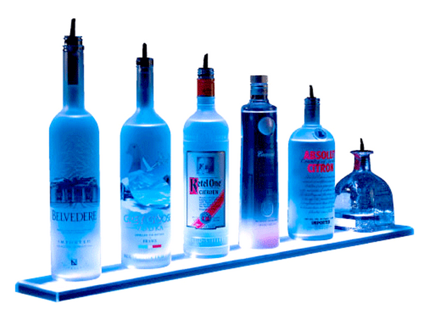 Illuminated LED Bottle Display