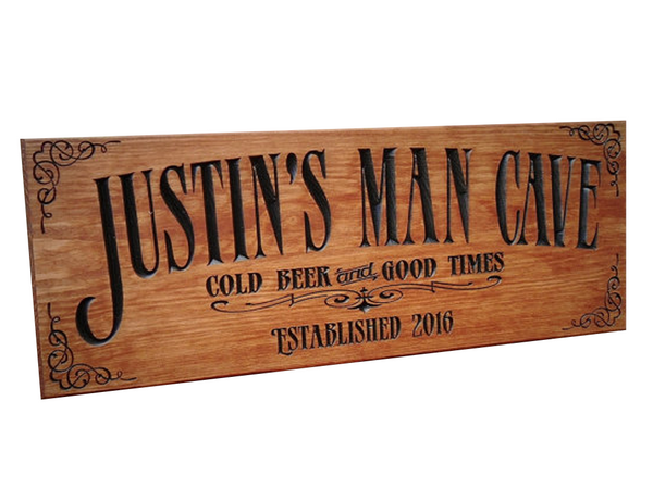 MV Wood Works: Man Cave Sign