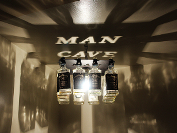 Man Cave Whiskey Bottle Light