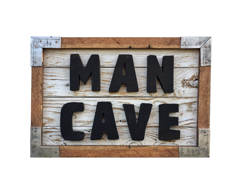 Man Cave Reclaimed Wood Sign