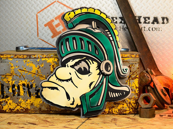 Hex Head: Michigan State University Mascot Sparty