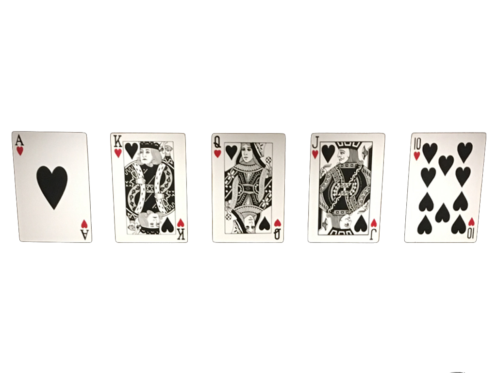 Royal Flush Large Playing Cards