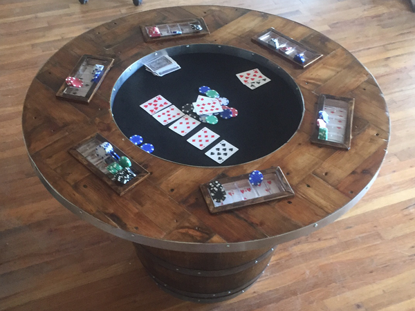 Smokin Barrel Works: Wine Barrel Poker Table