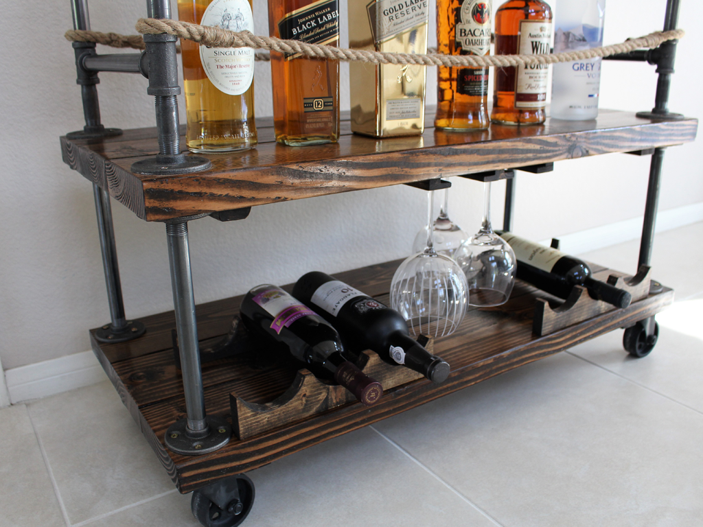 Diy Kitchen Bar Cart