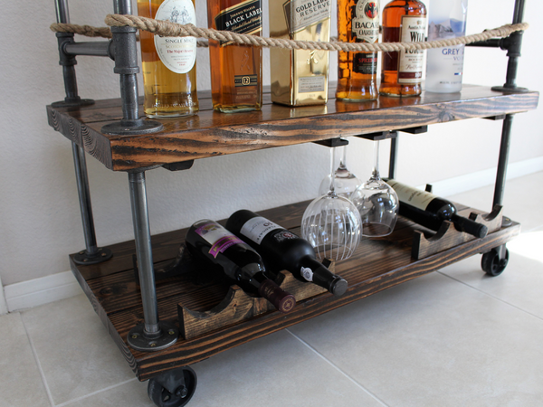The Rustic Forest: Rustic Bar Cart