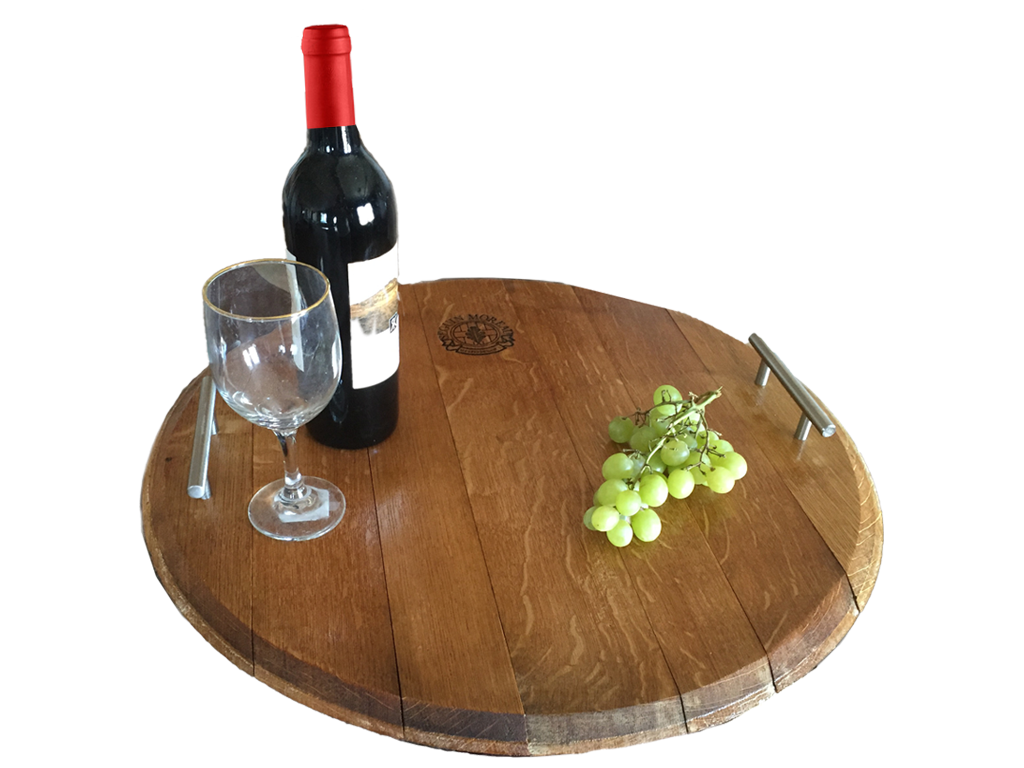 Wine Barrel Serving Tray