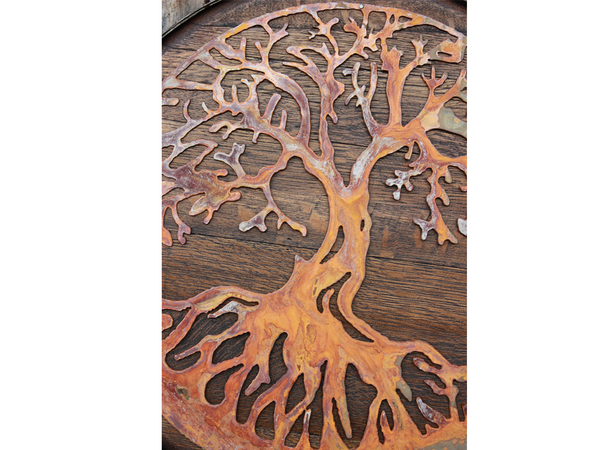 BarHome Designs: Tree of Life Oak Barrel
