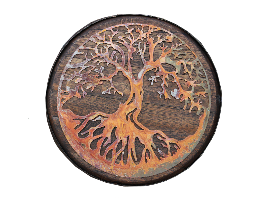 Tree of Life Oak Barrel