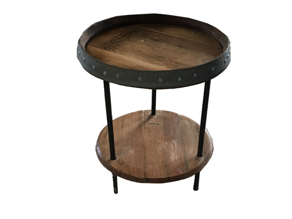 Wine Barrel Pipe Nipple End Table