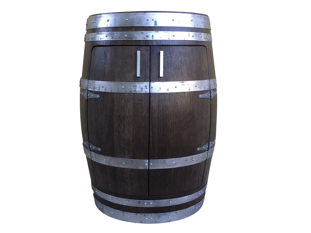 Oak Wine Barrel Cabinet