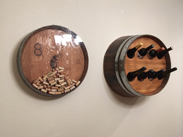 Smokin Barrel Works: Wine Barrel Bottle Holder