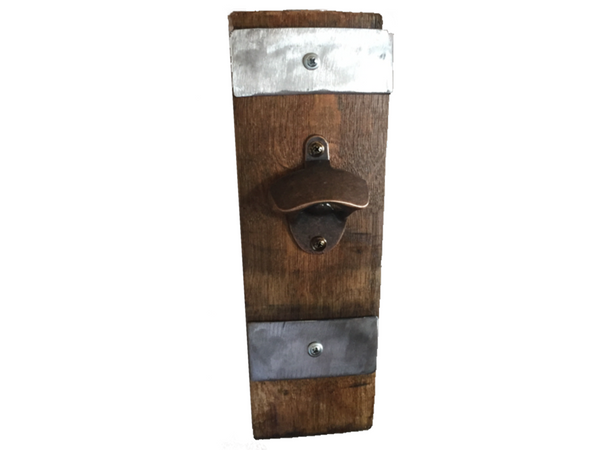 Smokin Barrel Works: Stave Wine Barrel Bottle Opener