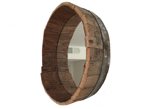 Smokin Barrel Works: Wine Barrel Mirror