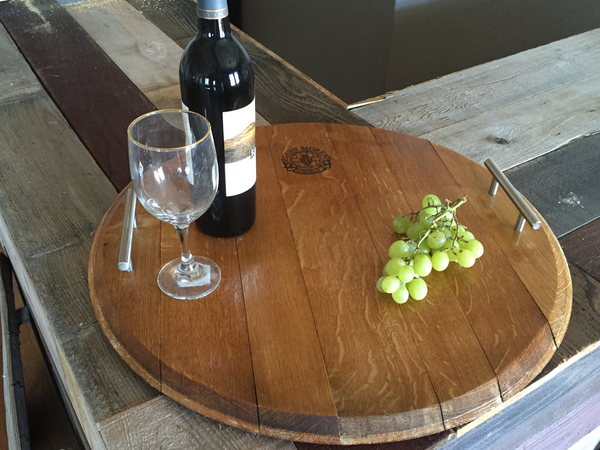 Smokin Barrel Works: Wine Barrel Serving Tray