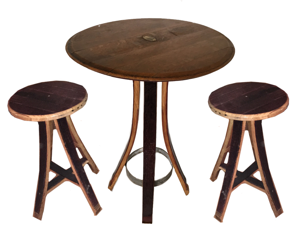 Wine Barrel Table and Chair Set