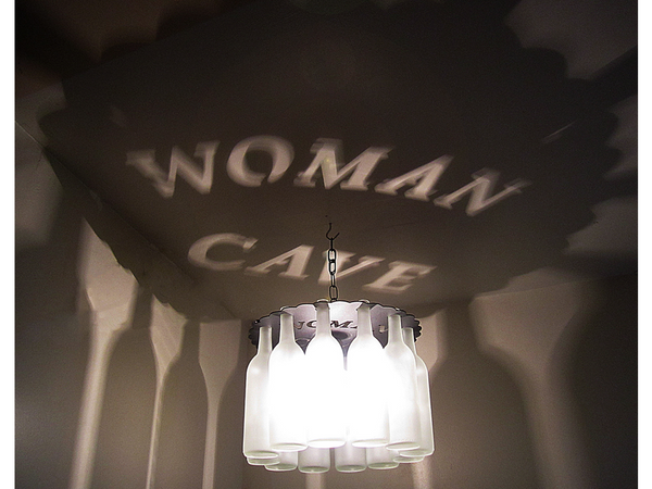 Woman Cave Wine Bottle Light