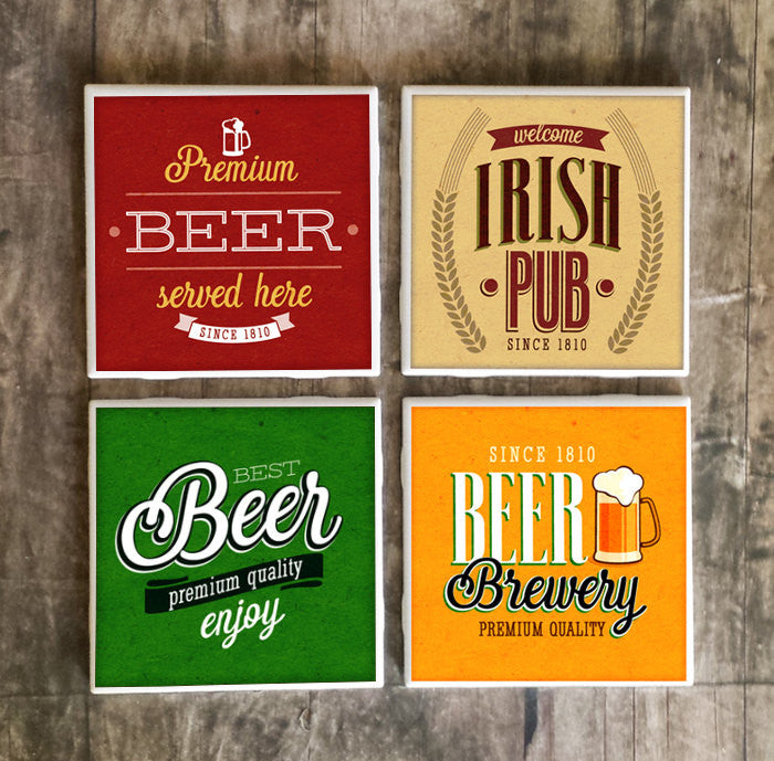 Vintage Beer Label Drink Coasters