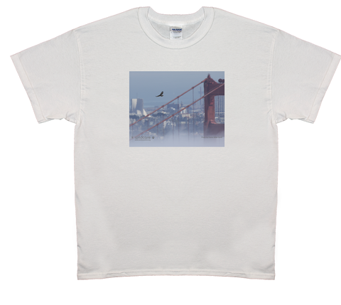 Golden Gate Bridge Hawk T-shirt(+$25 donation)