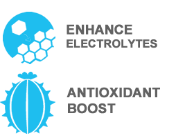 enhance electrolytes and boost antioxidants
