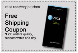 zaca recovery patch coupon free shipping