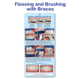 Flossing and Brushing with Braces