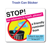 Trash Can Sticker