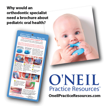 Why would an orthodontist need a pediatric oral health guide