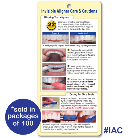 Invisible Aligner Care & Cautions