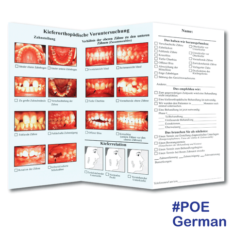 Preliminary Orthodontic Evaluation in German