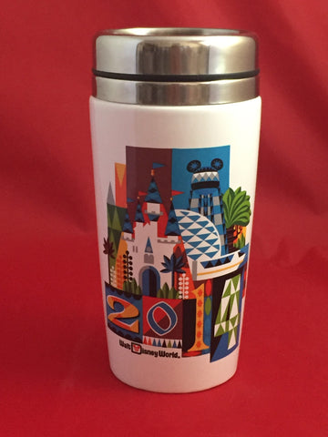 2014 Walt Disney World Icons Travel Mug [free ship]
