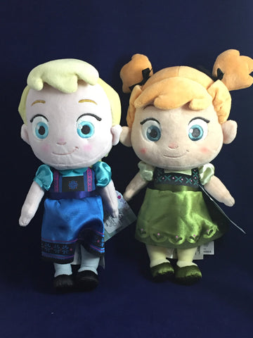 Anna & Elsa Frozen Authentic Disney Store Plush Set of 2 [Free Ship]