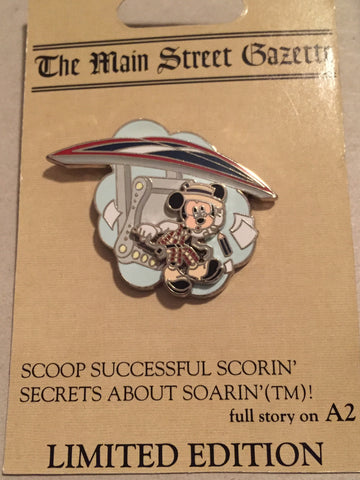Main Street Gazette - Mickey Rides Soarin Limited Edition Pin