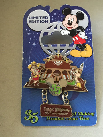 35 Magical Years: Chip n Dale Magic Kingdom Frontierland Limited Edition Pin