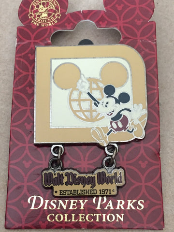 Classic D Mickey Logo Dangle Pin DISCOUNTED