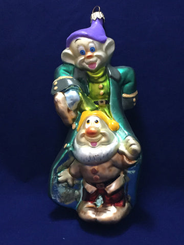 Dopey & Sneezy at the Party Christopher Radko Ornament (no box)