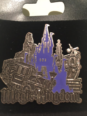 Magic Kingdom Icons Pewter- like Pin