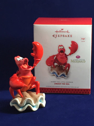 "Sebastian (Little Mermaid) ""Under the Sea"" 2013 Hallmark Ornament"