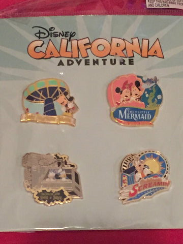 California Adventure Character Attractions Booster Pin Set