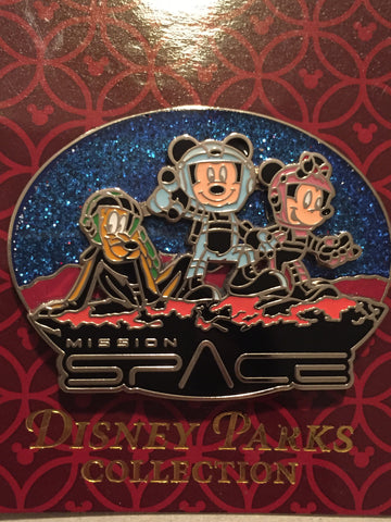 Mission Space - Astronauts Mickey, Minnie, Pluto Pin