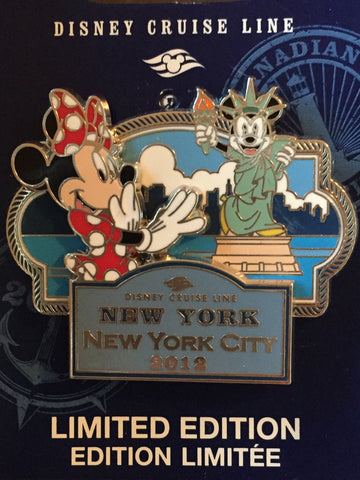 Disney Cruise Line New York City 2012 Limited Edition Pin