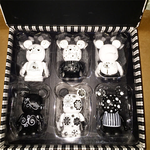 Black & White Vinylmation Set of 6 Limited Edition Boxed Set
