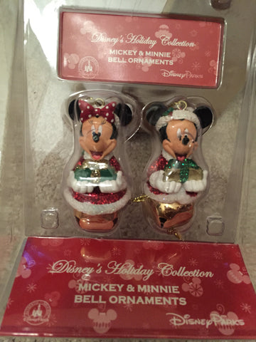 Mickey & Minnie Bells Holiday Ornament Set