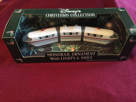 Walt Disney World Monorail Light & Sound Rare Ornament