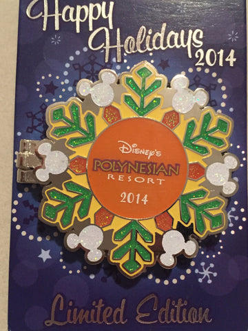 Polynesian Resort Stitch Holidays 2014 Limited Edition Pin