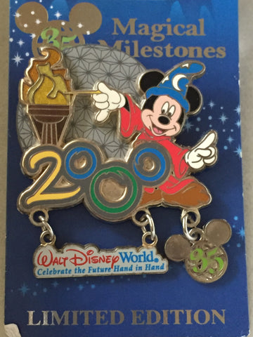 35 Magical Years Sorcerer Mickey Celebrates 2000 at Epcot Limited Edition Pin