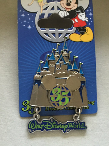 35 Magical Years Magic Kingdom WDW Castle Pin