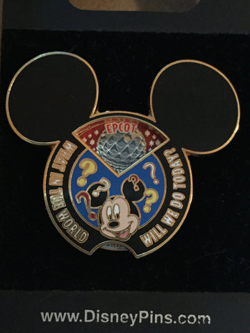 What in the World Mickey Mouse Spinner Pin
