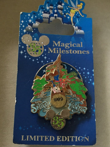 35 Magical Years: Brer Rabbit/ Brer Bear Splash Mountain Limited Edition pin