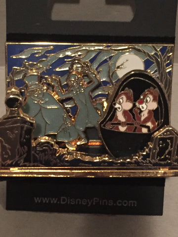 Haunted Mansion Diorama 3-D Chip n Dale Pin
