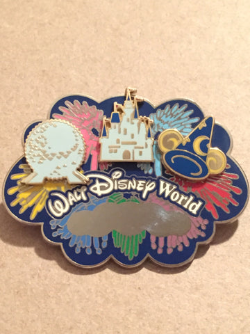 Walt Disney World Icons Build-a-Pin Engraveable Pin